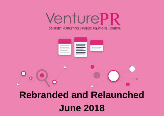 Venture Content Marketing | PR | Digital Rebrand and Relaunch