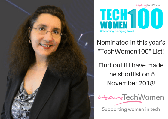 "Nominated for the ""TechWomen100"" 2018 List"