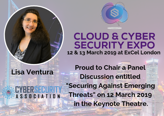 Lisa Ventura to Chair a Panel Discussion at the 2019 Cloud & Cyber Expo
