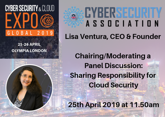 """Lisa Ventura to Chair Panel Discussion on """"Sharing Responsibility For Cloud Security"""""""