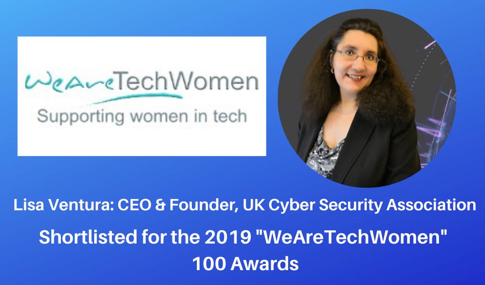 Lisa Ventura Shortlisted For WeAreTechWomen's 2019 Tech 100 List