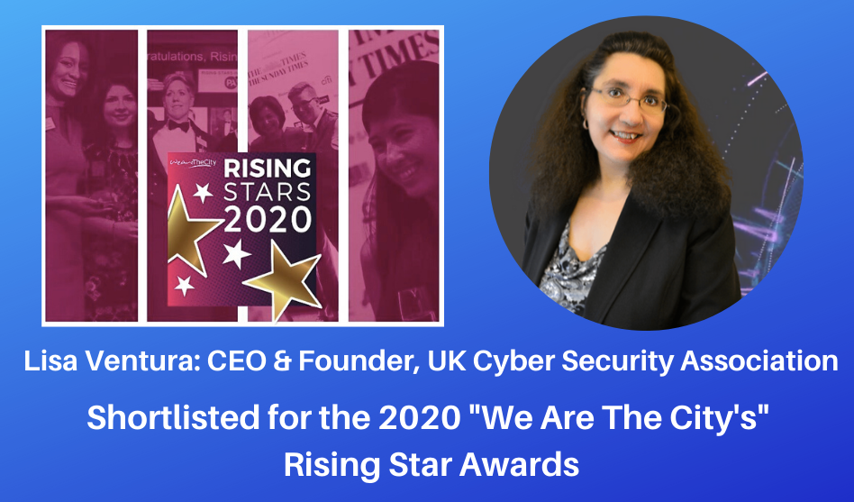 "Lisa Ventura Shortlisted For We Are The City's ""Rising Star"" Awards 2020"