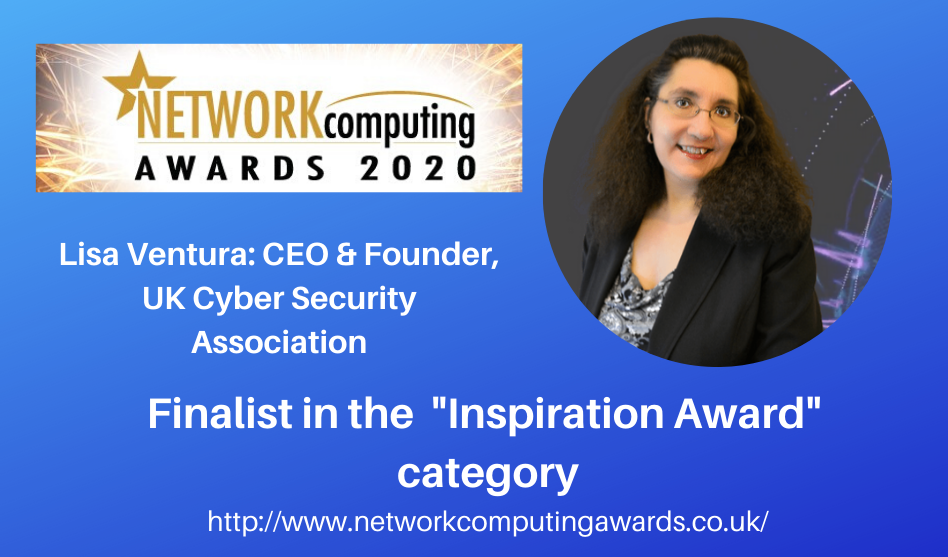 "Lisa Ventura Finalist in the ""Inspiration Award"" Category in the 2020 Network Computing Security Awards"