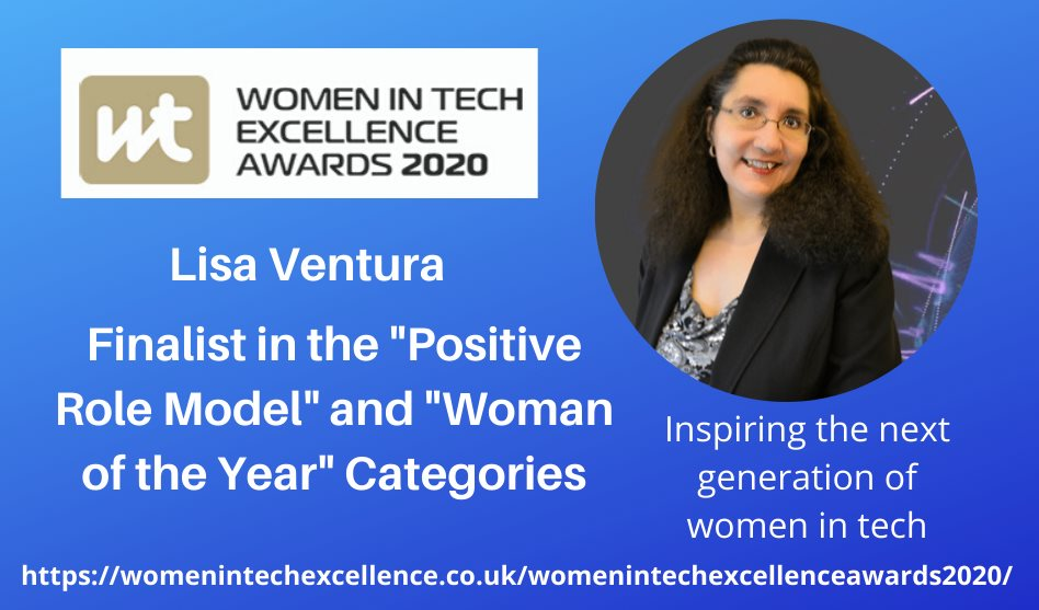 Lisa Ventura Nominated in Computing Magazine's 2020 Women in Tech Excellence Awards