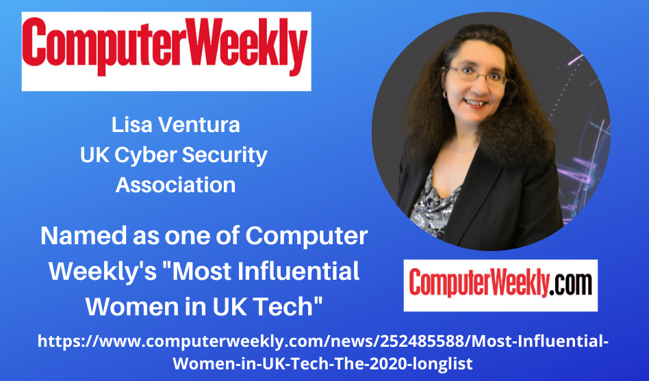"Lisa Ventura Named as one of the ""Most Influential Women in UK Tech by Computer Weekly Magazine"