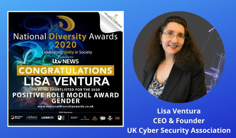 Lisa Ventura Shortlisted in the Positive Role Model (Gender) Category for the UK's Largest Diversity Awards