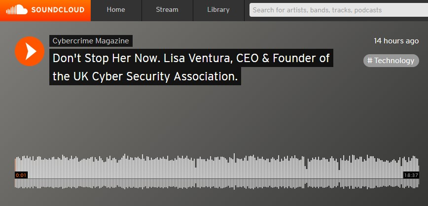 Don't Stop Her Now: Lisa Ventura Records Podcast For Cybercrime Magazine